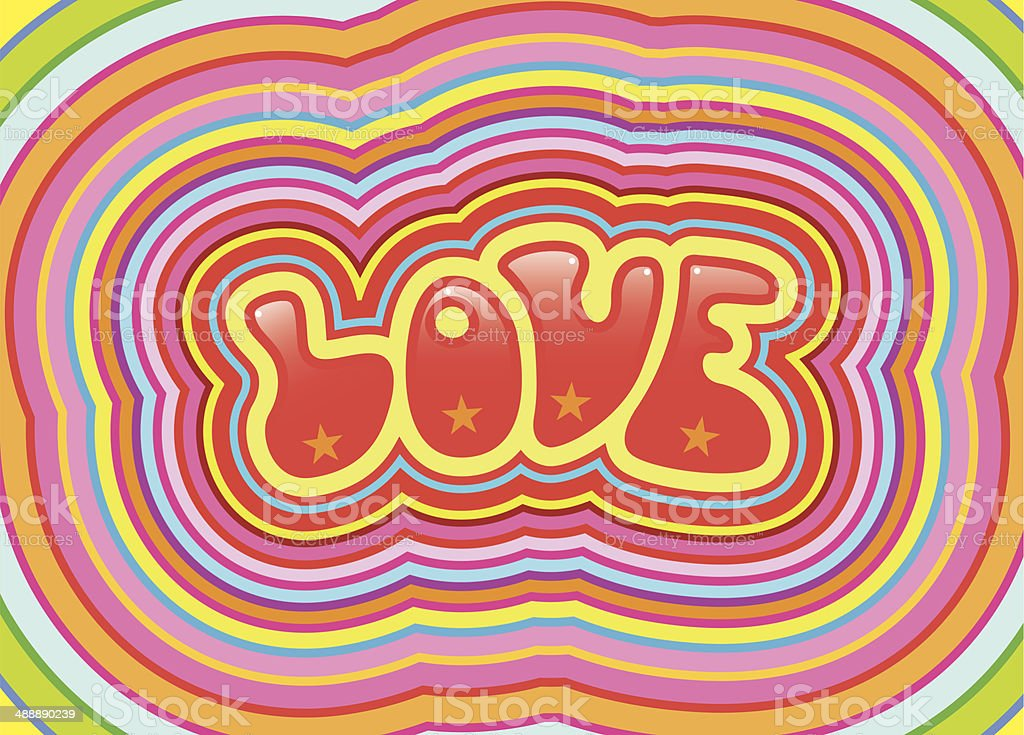 Psychedelic love royalty-free stock vector art