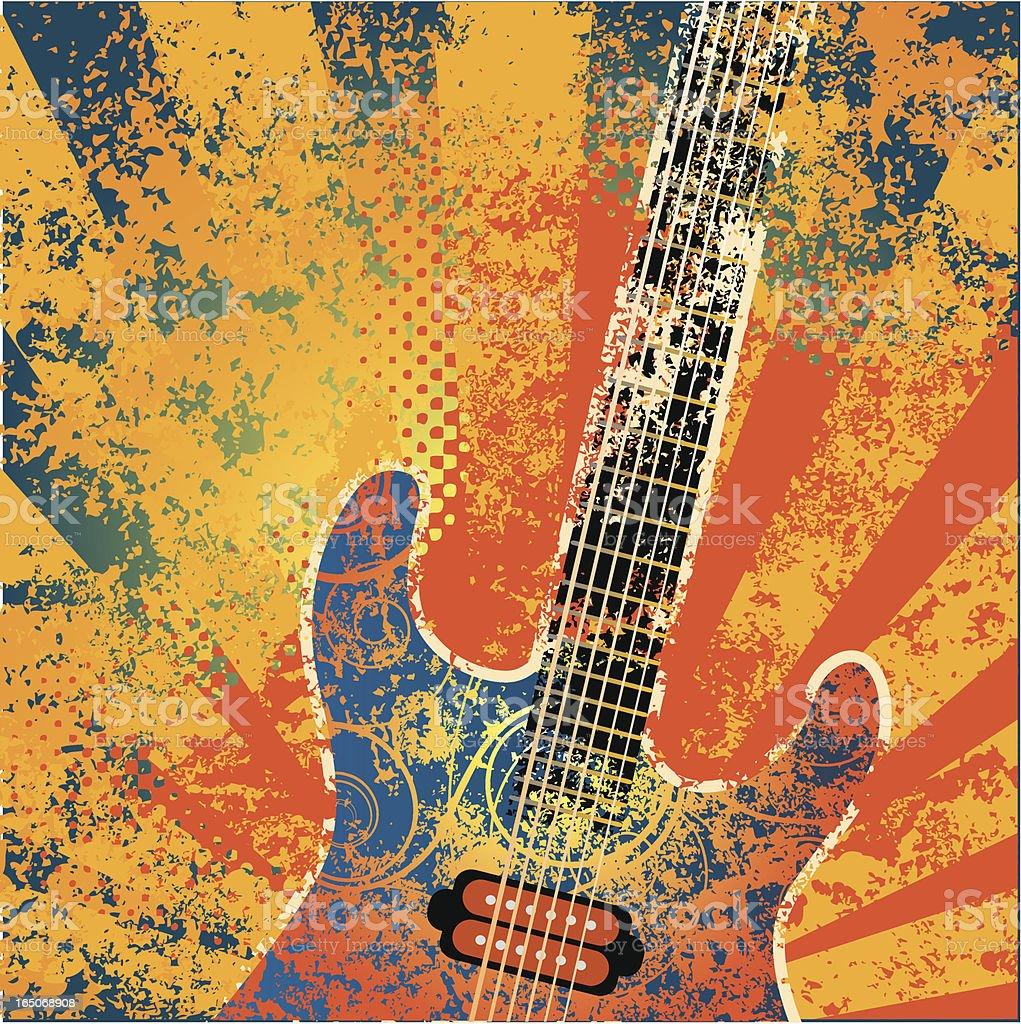Psychedelic music vector art illustration