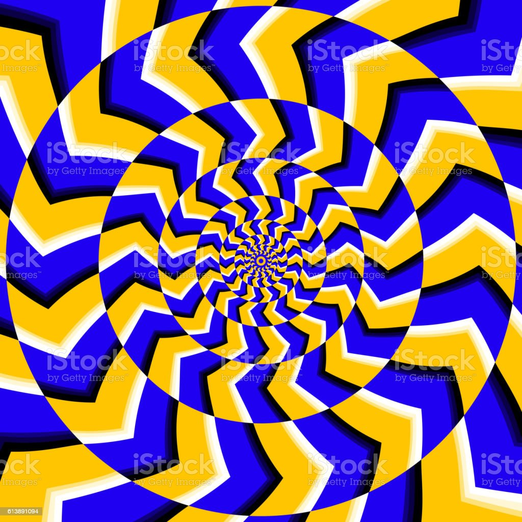 Psychedelic optical spin illusion vector background vector art illustration