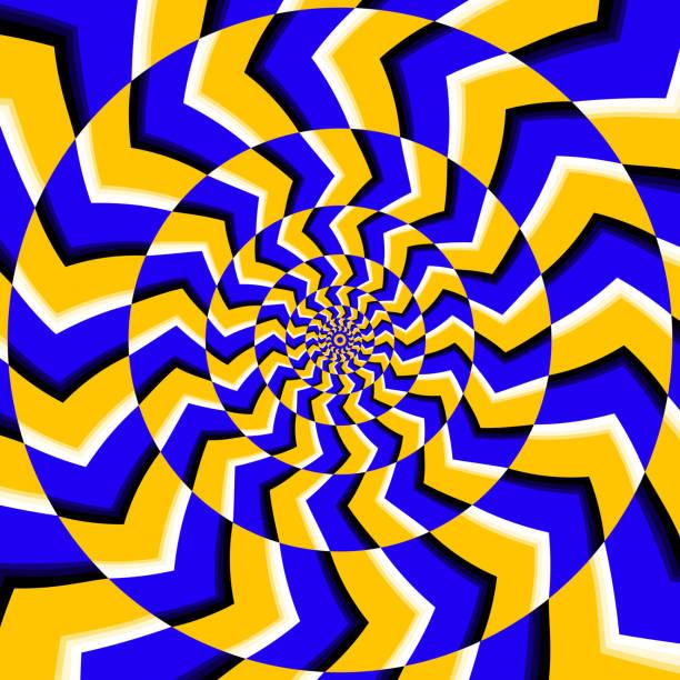 stockillustraties, clipart, cartoons en iconen met psychedelic optical spin illusion vector background - verbeelding