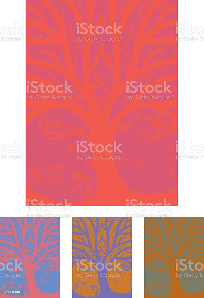 Psychedelic tree royalty-free stock vector art