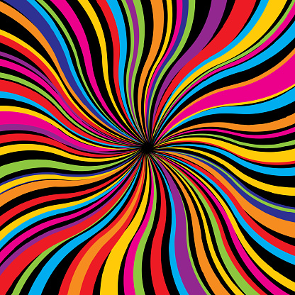 Psychedelic Twist Square Background