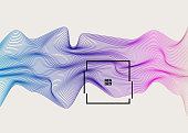Digital distortion waves concept, abstract background with digital waves, rippled effect, geometry abstract