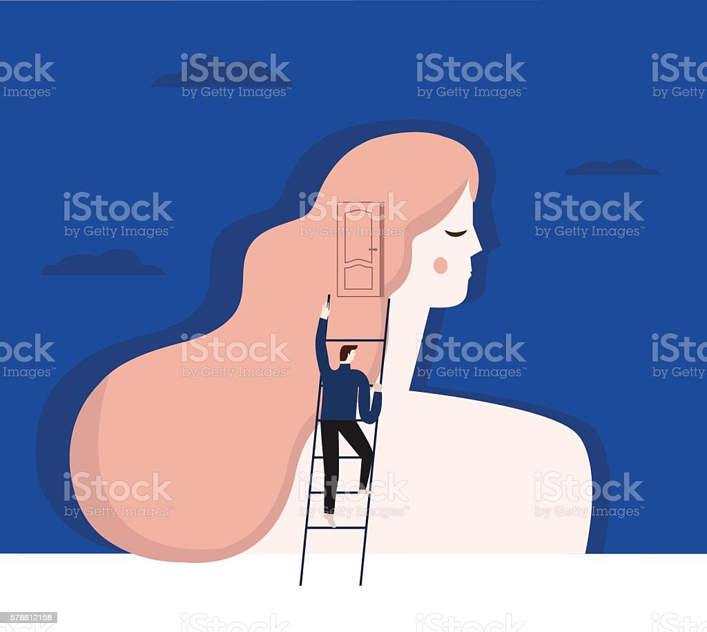 Psychiatrist and patient. vector art illustration