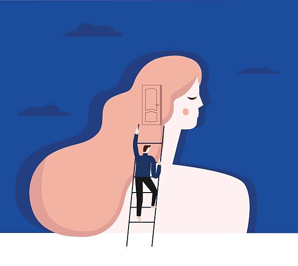 ilustraciones, imágenes clip art, dibujos animados e iconos de stock de psychiatrist and patient. - profesional de salud mental