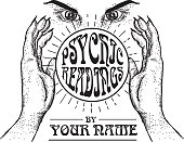 Psychic Readings poster design