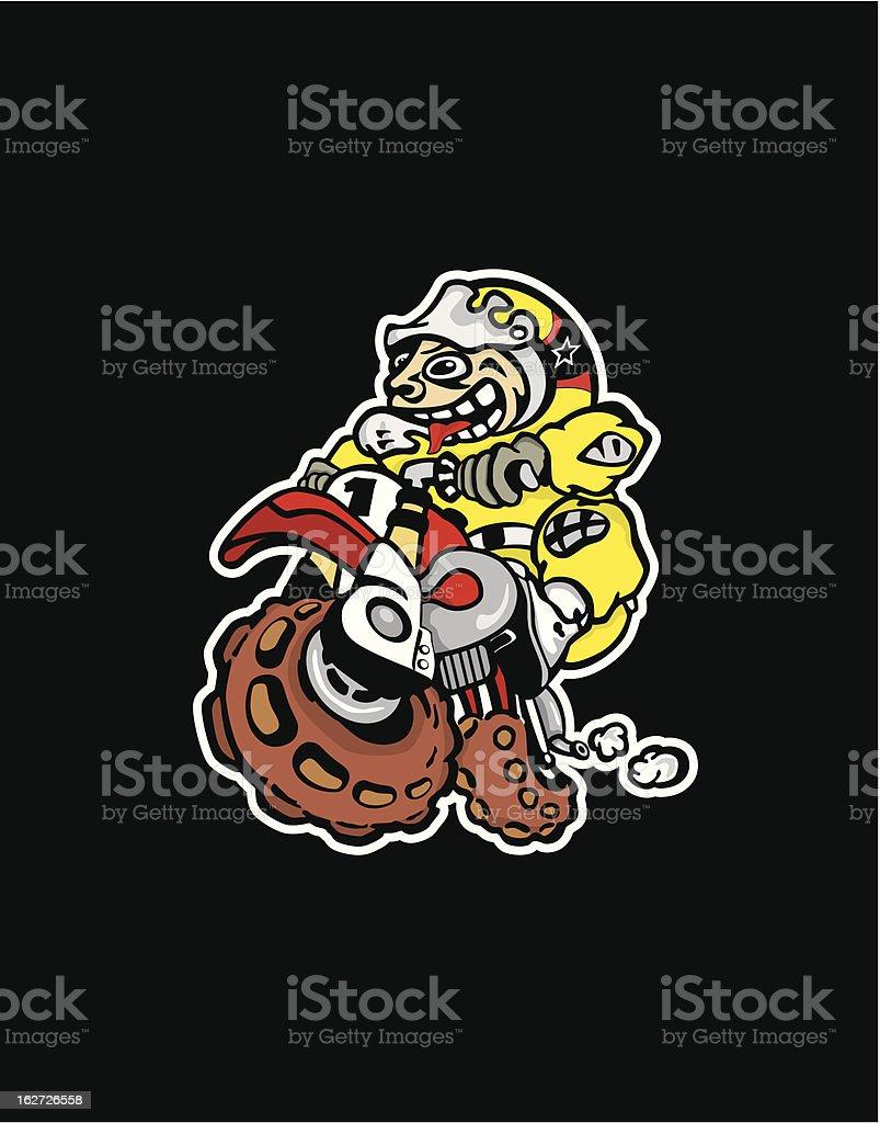 psycho biker royalty-free psycho biker stock vector art & more images of crash helmet