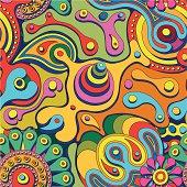 psychodelic seamless pattern
