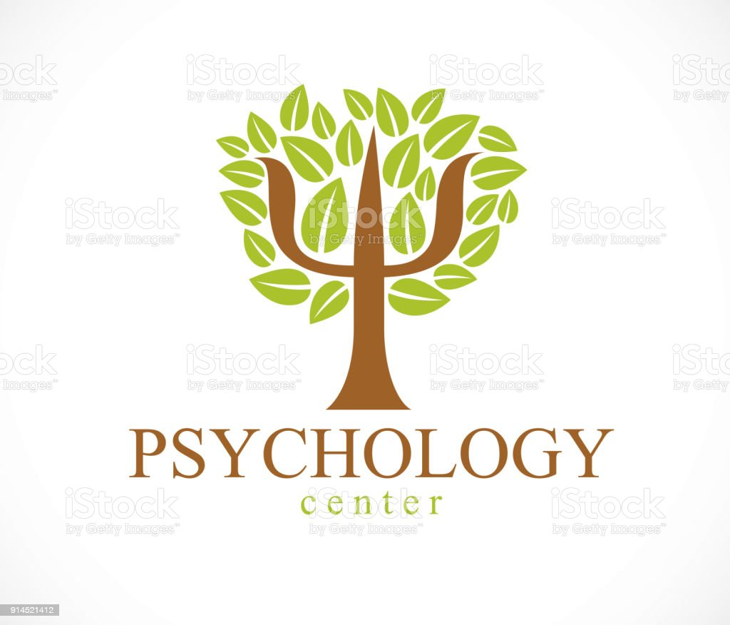 Psychology Concept Vector Icon Created With Greek Psi Symbol As A