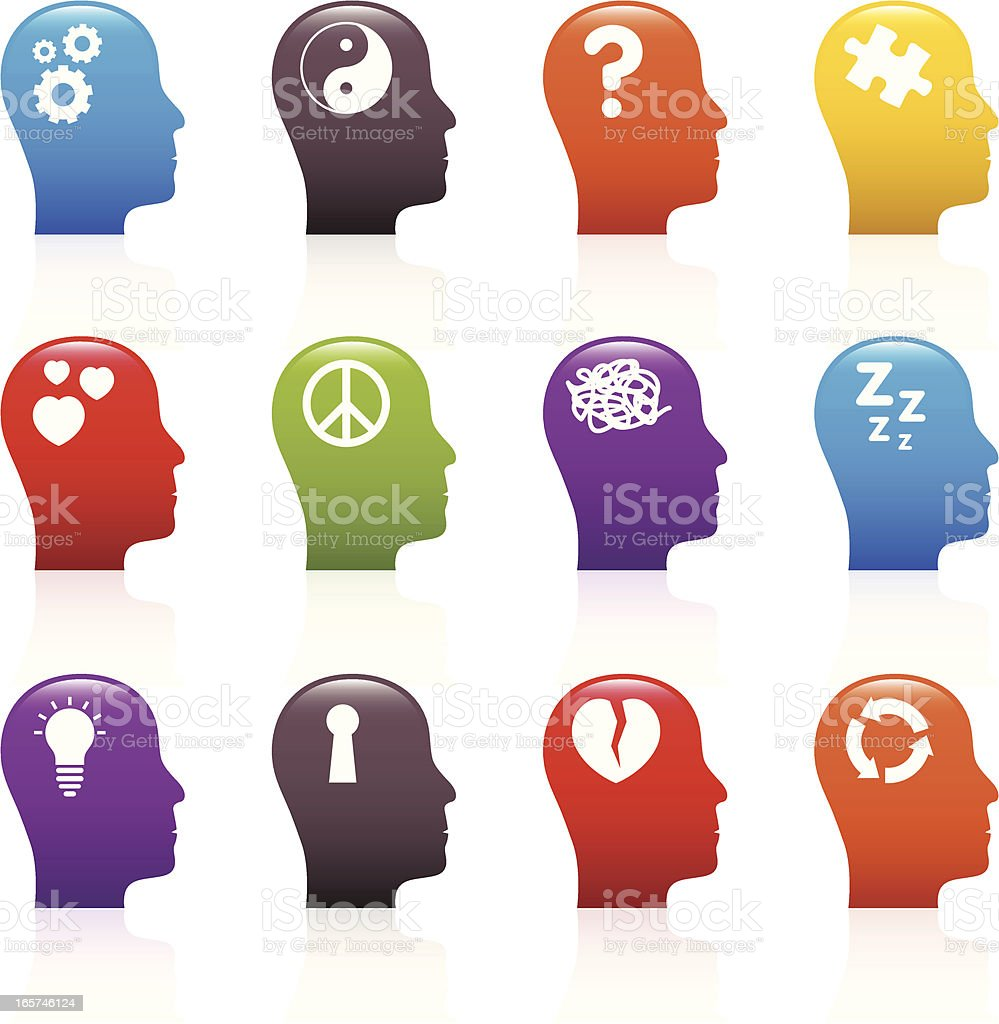 Psychology Icons vector art illustration