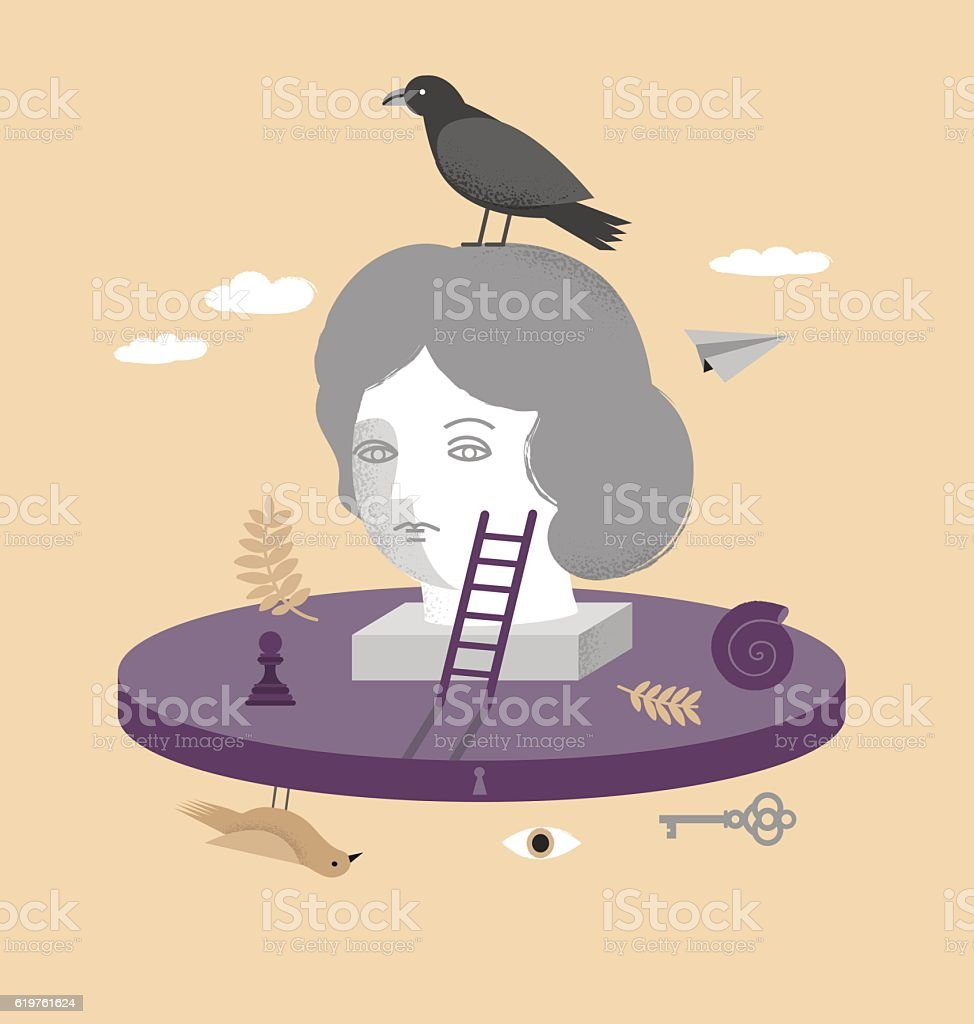 Psychology illustration vector art illustration