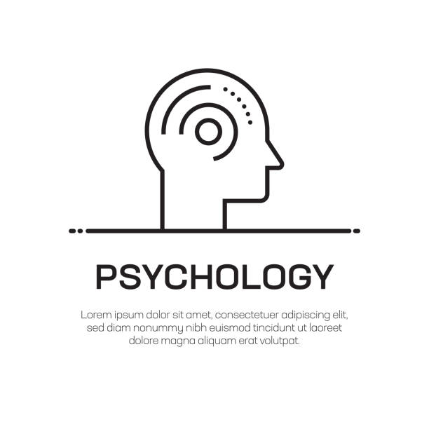 psychology vector line icon - simple thin line icon, premium quality design element - therapist stock illustrations