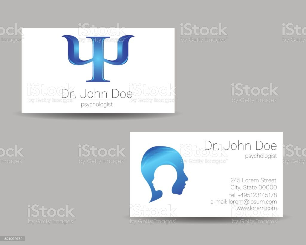Psychologievektorvisitenkarte Moderne Ikone Kreativmodus