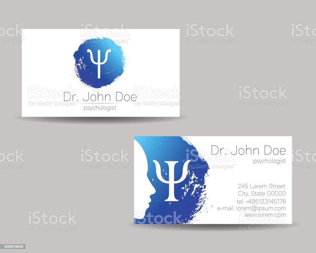 Psychology Vector Visit Card Modern Sign Creative Style