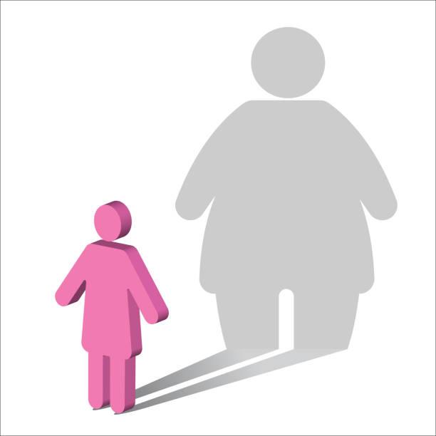 psychology-body dysmorphia-female - physical therapy stock illustrations