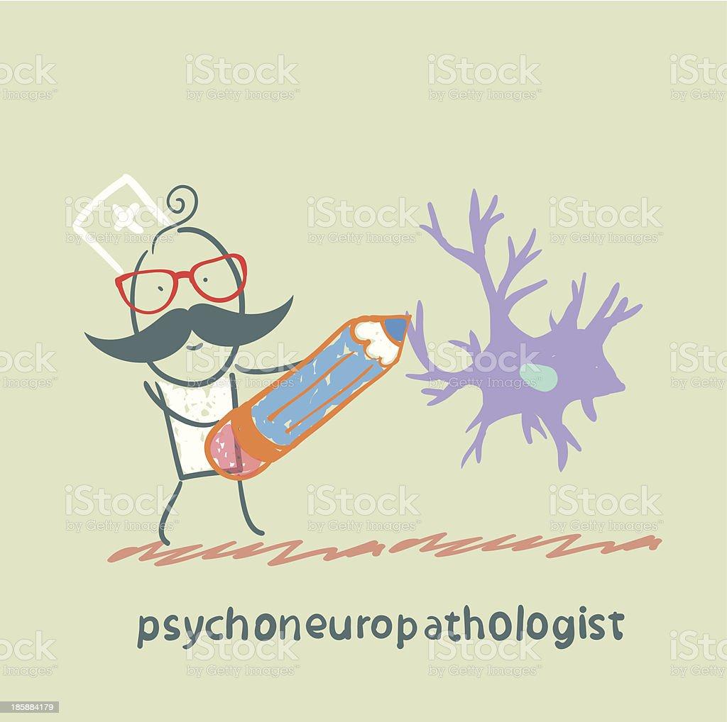 Ilustración de Psychoneuropathologist Lápiz De Premios Las Células ...
