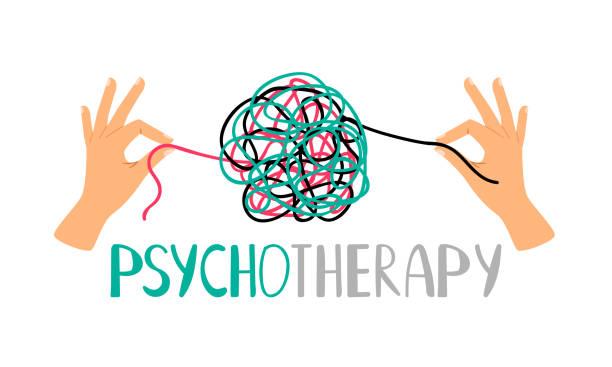 psikoterapi kavramı simgesi - therapist stock illustrations