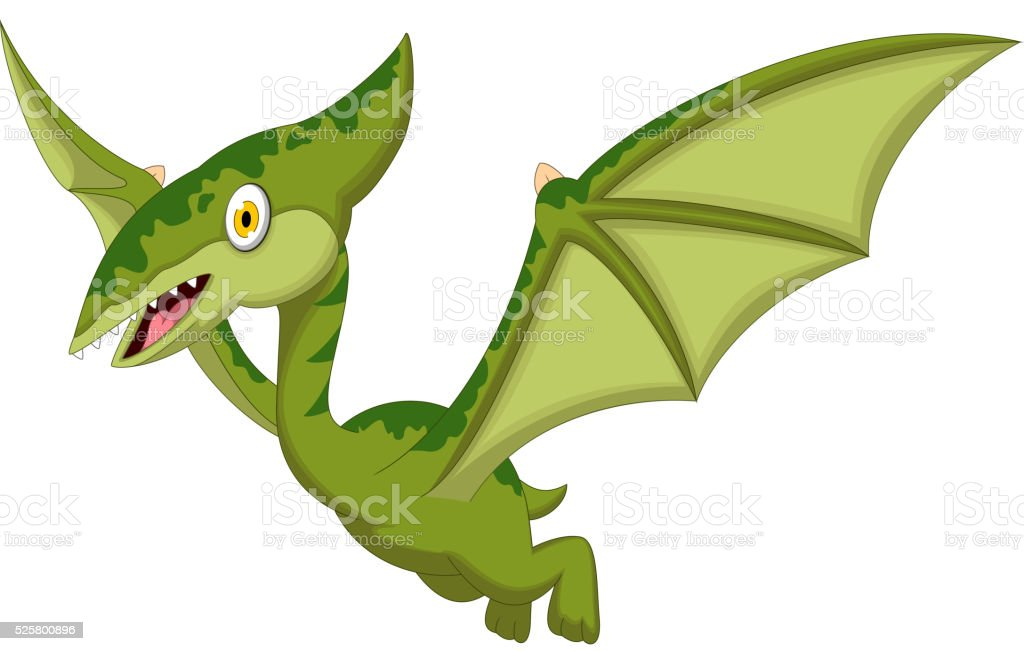 royalty free pterodactyl clip art vector images illustrations rh istockphoto com Cute Pterodactyl Drawing Pterodactyl Dinosaur
