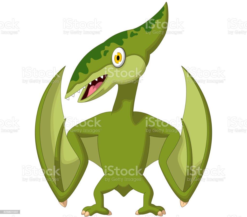 pterodactyl cartoon vector art illustration