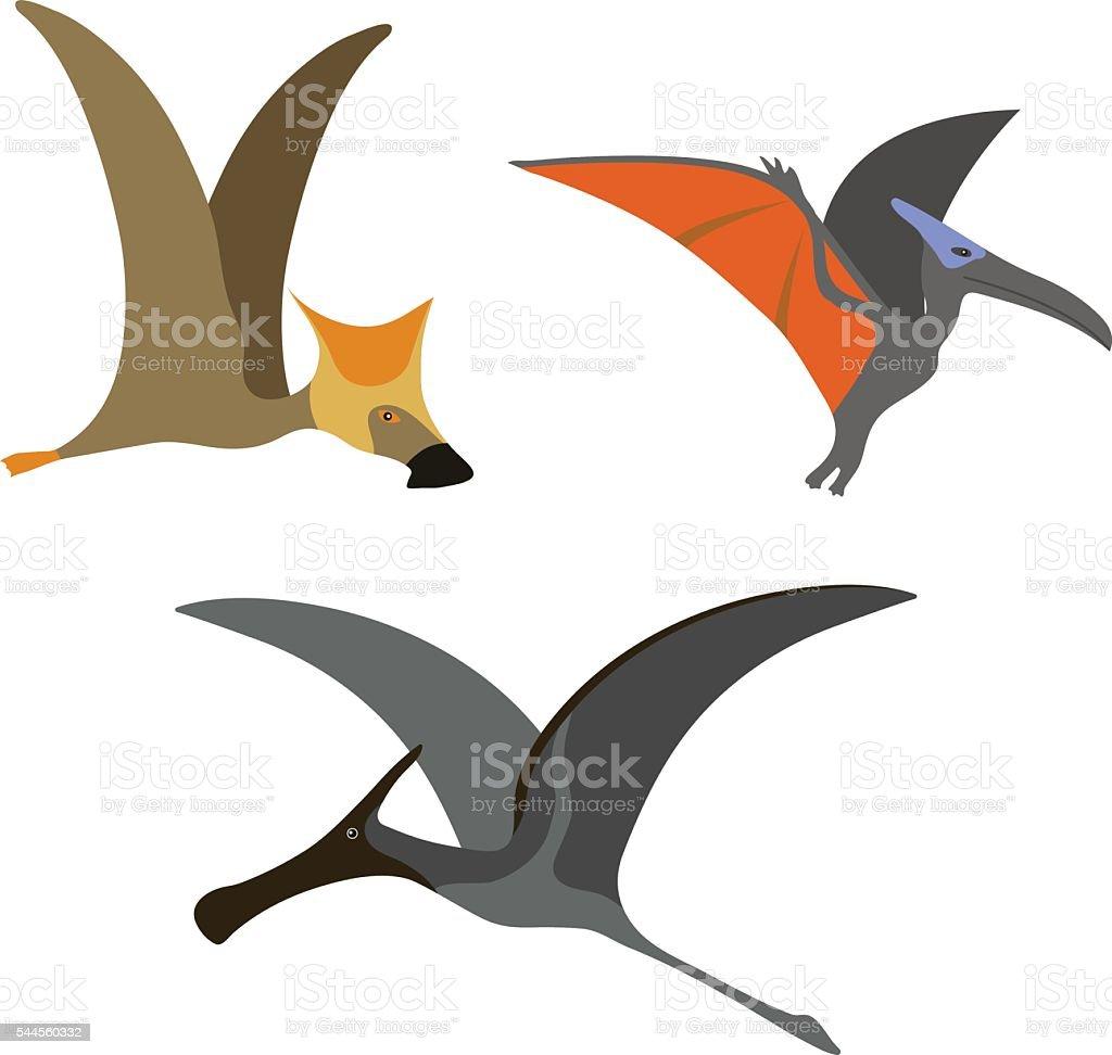 Pterodactyl dinosaur vector illustration. vector art illustration