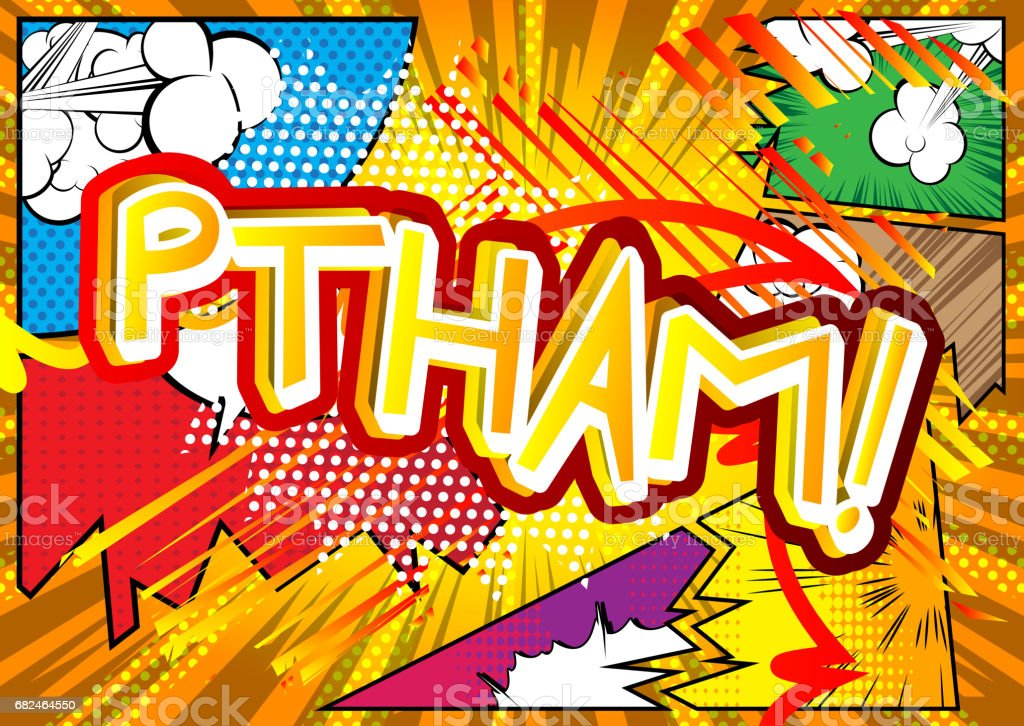 Ptham! - Comic book style expression. royalty-free ptham comic book style expression stock vector art & more images of balloon