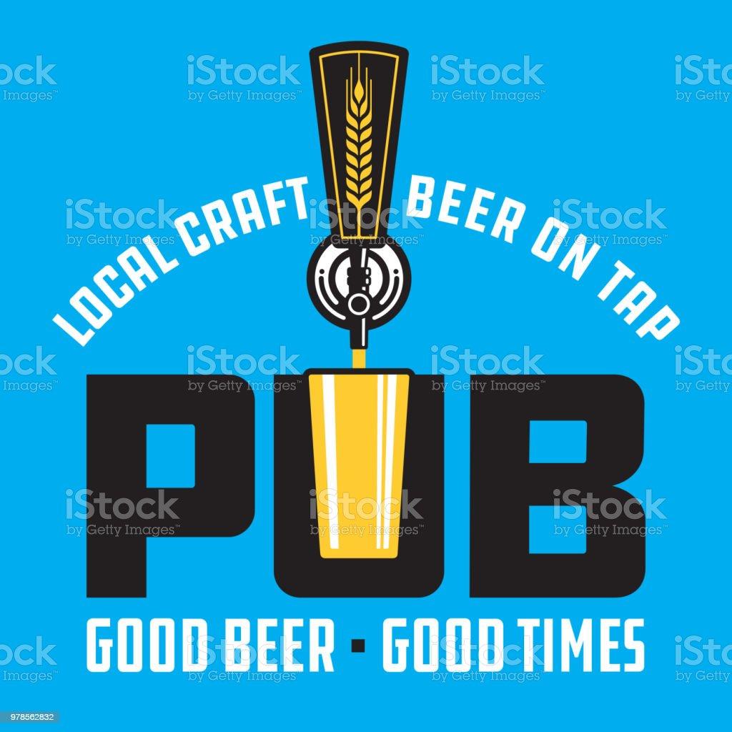 Pub Craft Beer Vector Design. vector art illustration