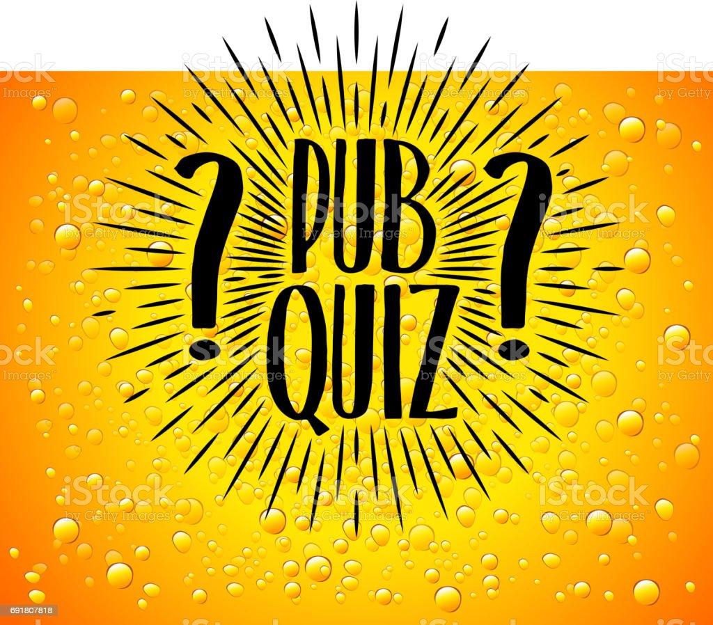 Pub Quiz Beer Background Quiz Night Announcement Poster ...
