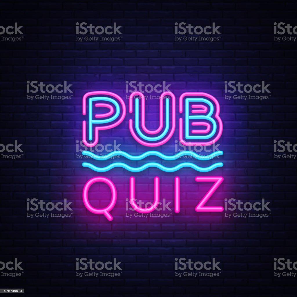 Pub Quiz Night Announcement Poster Vector Design Template Quiz Night ...