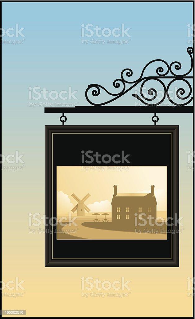 Pub-Schild – Vektorgrafik