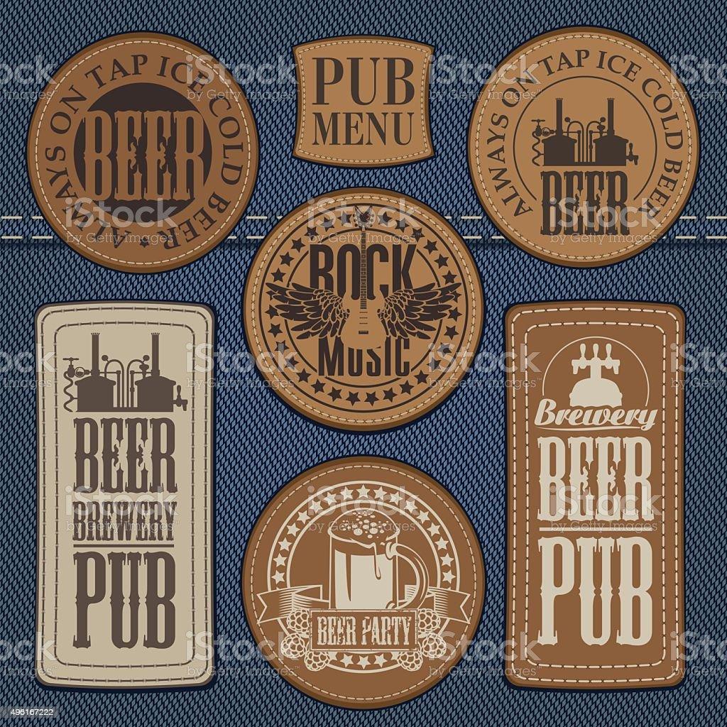 pub with live music vector art illustration