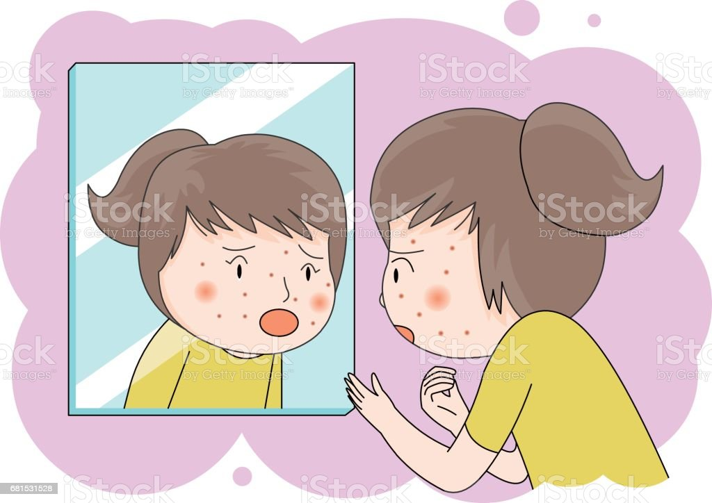 puberty vector art illustration