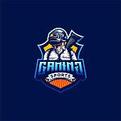 pubg gaming logo design vector illustration