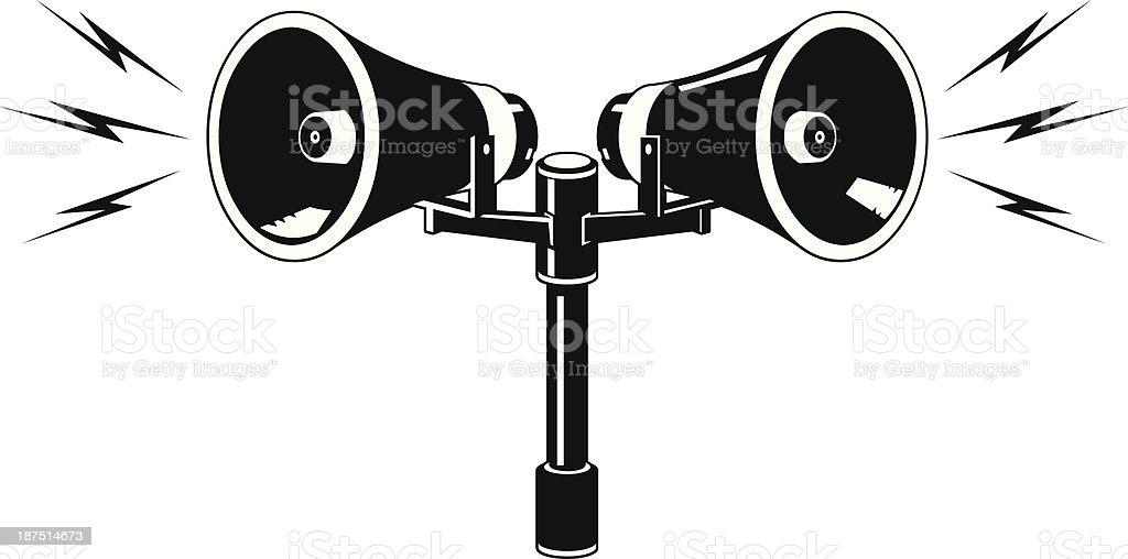 public address speaker announcement icon stock vector art
