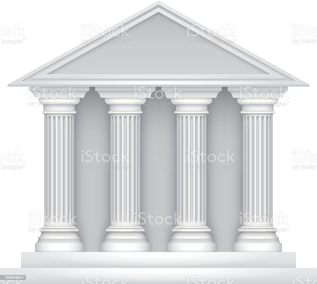 Public building vector art illustration