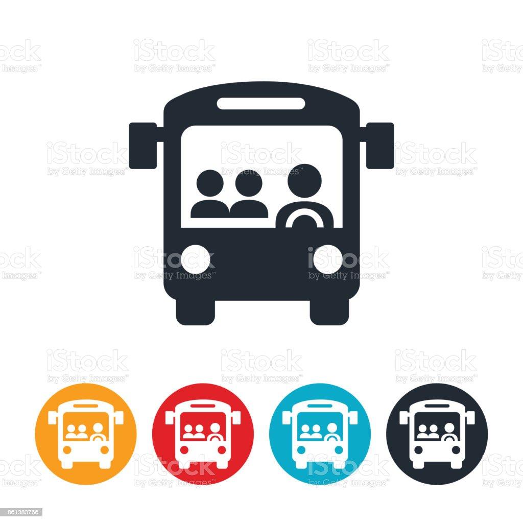 Icône de bus public - Illustration vectorielle