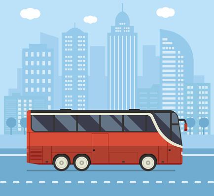 Public City Bus Concept Illustration