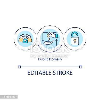 istock Public domain concept icon 1316591537