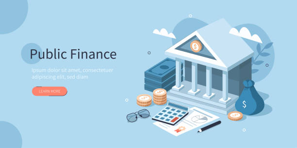 ilustrações, clipart, desenhos animados e ícones de finanças públicas - banco edifício financeiro