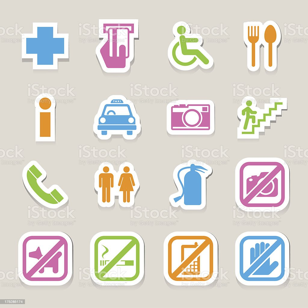 Public icons set royalty-free public icons set stock vector art & more images of adult