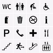 Public Icons. Vector