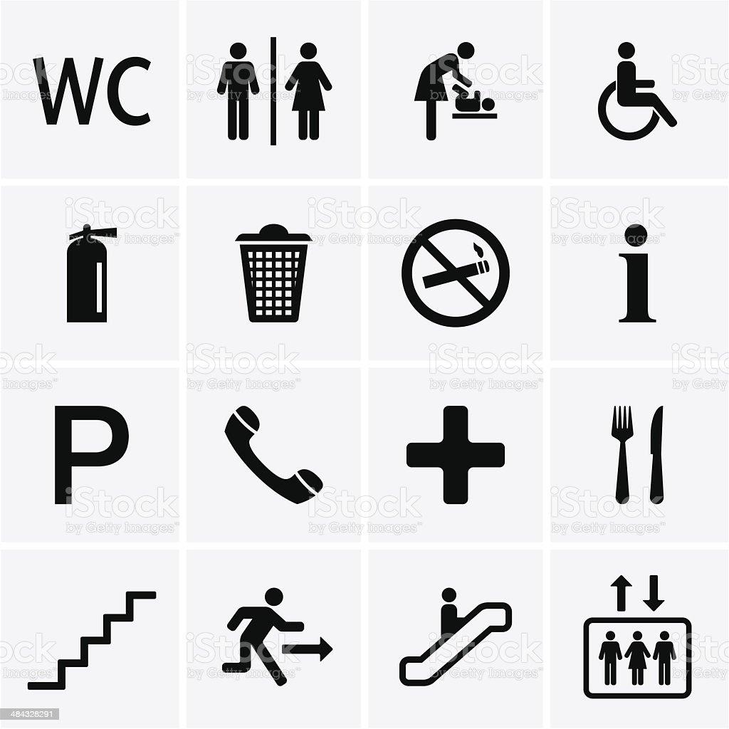 Öffentliche Symbole – Vektorgrafik