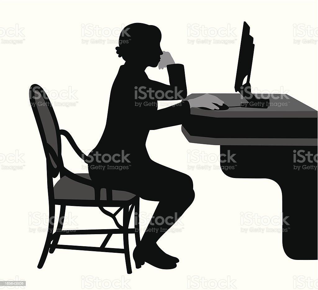 Public Internet Vector Silhouette royalty-free stock vector art