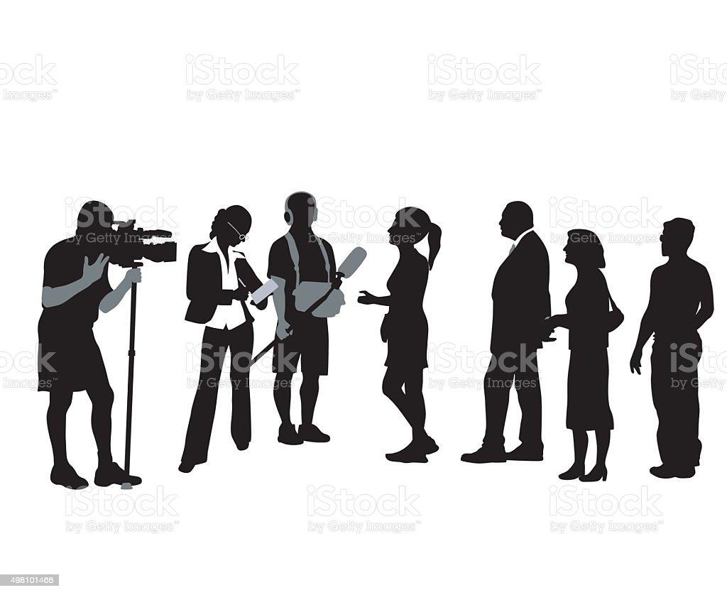 Public Opinion vector art illustration