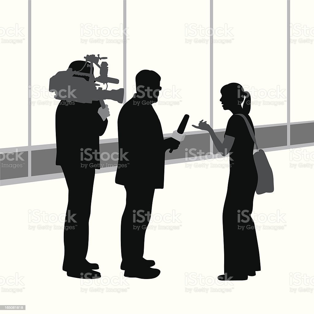 Public Opinion Vector Silhouette royalty-free stock vector art