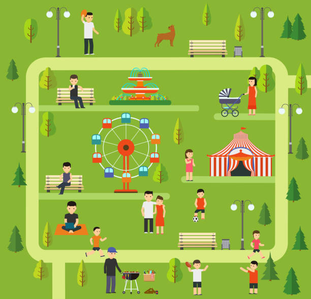 Royalty Free Cartoon Of The Family Picnic Clip Art, Vector ...
