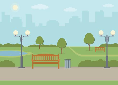 Public park in the city.