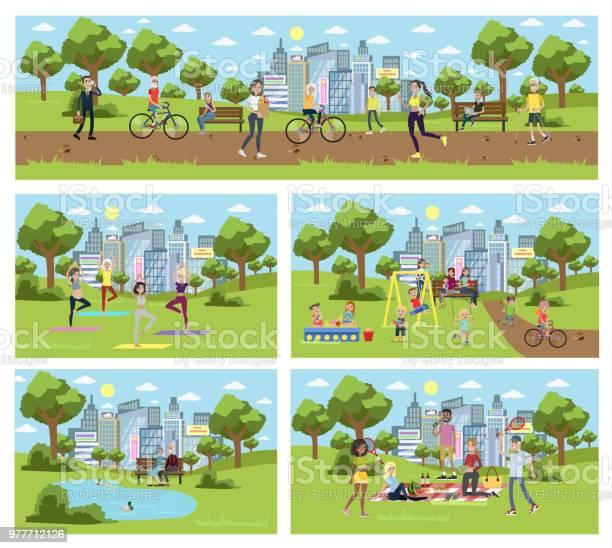 Public park in the city vector id977712126?b=1&k=6&m=977712126&s=612x612&h=tzeib3rt8luo4dam2onfkodvxptao1s48yshso8zidi=