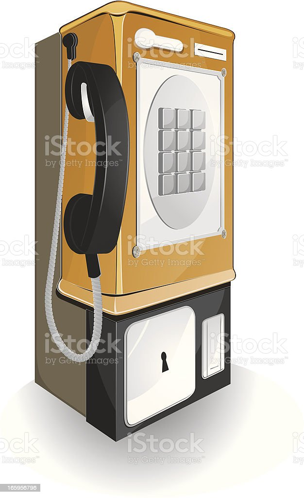 Public phone. vector art illustration