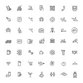 Simple Set of Public Navigation Related Vector Line Icons.