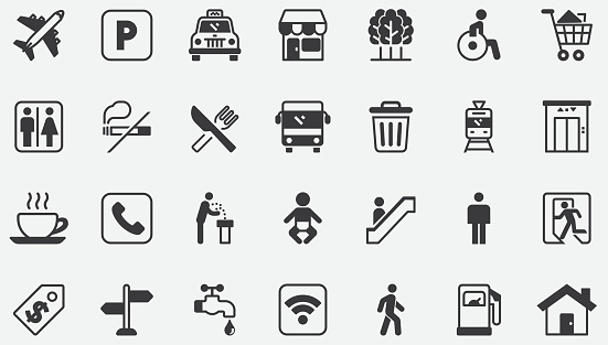 Public Place , Shopping Mall Concept Icons